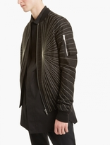 Rick Owens Black Embroidered Flight Jacket