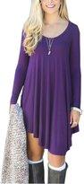 Nutexrol Women's Long Sleeve Casual Loose T-Shirt Autumn Fashion Dress XL