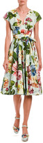 Dolce & Gabbana Floral Wrap Midi Dress