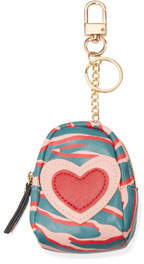 Neiman Marcus Mini Animal-Print Backpack Coin Purse Key Chain