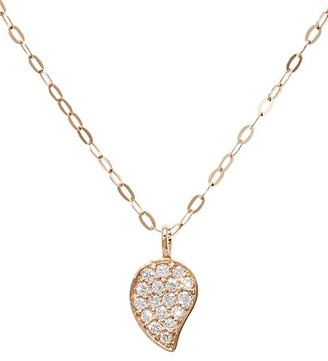 Tamara Comolli 18K Rose Gold Diamond Pave Drop Pendant Chain Necklace