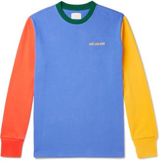 Aimé Leon Dore Logo-Embroidered Colour-Block Cotton-Jersey T-Shirt