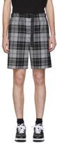 Alexander Wang Grey Tartan Shorts