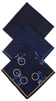 John Lewis Bike Handkerchief, Pack Of 3, Navy