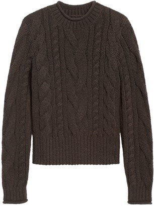 Banana Republic Petite Cable-Knit Cropped Sweater