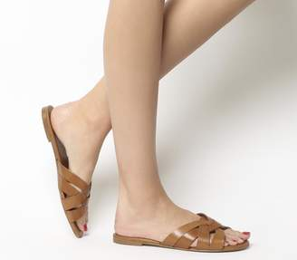 Office Saffron Mule Sandals Tan Leather