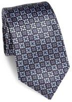Ermenegildo Zegna Diamond Woven Silk Tie