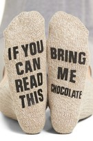 Nordstrom Women's If You Can Read This Crew Socks