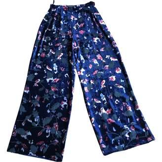 Chanel Blue Velvet Trousers