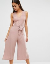 Missguided Belted Culotte Jumpsuit