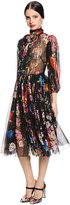 Dolce & Gabbana Flowers & Space Printed Chiffon Dress