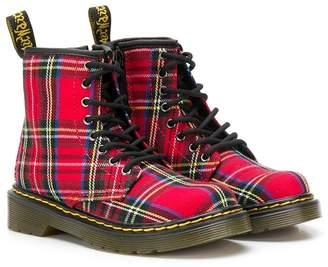 Dr. Martens Kids Junior 1460 Tartan boots