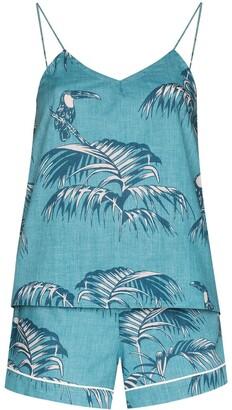 Desmond & Dempsey Bocas print camisole pyjama set