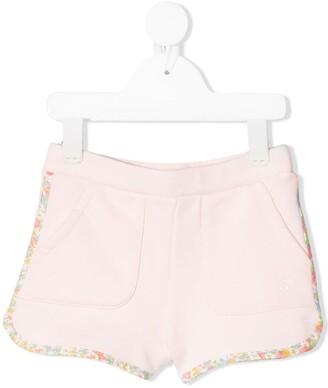 Bonpoint Liberty-Print Trim Fleece Shorts