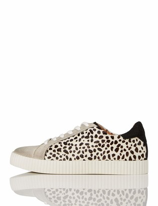 Find. Animal Suede Low-Top Sneakers Black Dalamtion Print) 7 UK