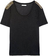 Pierre Balmain Oversized chain-embellished jersey top
