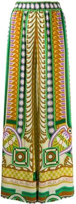 La DoubleJ Geometric Wide-Leg Trousers