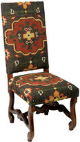 AA Importing Daphne Kilim Side Chair, Charcoal/Rust