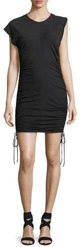 Alexander Wang High-Twist Jersey Mini Dress w/ Tie Sides