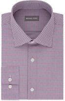 Michael Kors Men's Classic/Regular Fit Airsoft Stretch Non-Iron Performance Burgundy Check Dress Shirt