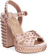 Aldo Britain Two-Piece Platform Block-Heel Sandals Women's Shoes