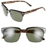 Tom Ford 'River' 57mm Clubmaster Sunglasses