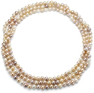 DaVonna Multi Pink Freshwater Pearl Endless Necklace, 48-inch