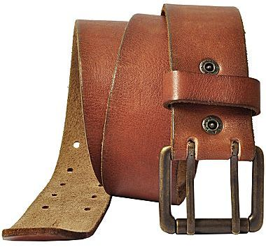 Levi's Brown Leather Belt w/ Double Prong Buckle