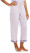 Sleep Sense Embroidered Medallion-Print Cropped Sleep Pants