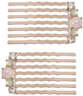 Lauren Conrad Runway Collection Simulated Opal Hair Comb Set