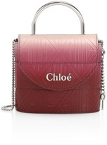 Chloé Aby Ombre Embossed Leather Top Handle Bag