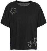 Monrow Studded Cotton And Modal-blend Jersey T-shirt