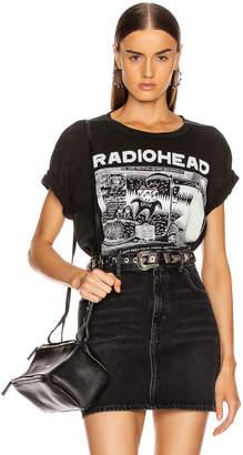 R 13 Radiohead Ice Caps Boy Tee in Acid Black | FWRD