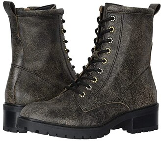 Frye Anise Combat (Black Multi Distressed Leather) Women's Boots