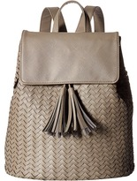 Deux Lux Sullivan Weave Backpack with Tassels