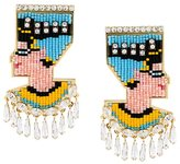 Shourouk 'Nefertiti Bo' clip-on earrings