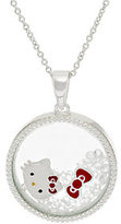 "Hello Kitty As Is Crystal Shaker Pendant with 18"" Chain"