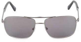 Ermenegildo Zegna 59MM Square Sunglasses