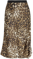Nili Lotan Lillie Leopard Slip Skirt