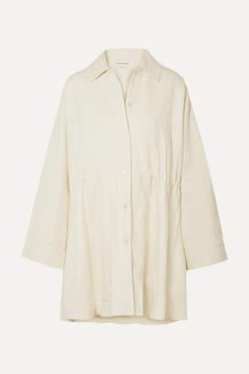 Mansur Gavriel Oversized Linen Coat - Cream