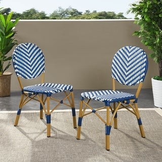 Christopher Knight Home Picardy Outdoor Aluminum French Bistro Chairs