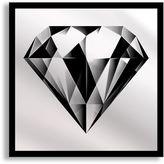 Black Diamond Framed & Printed Mirror Wall Art