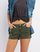 Charlotte Russe Colored Denim Cargo Shorts