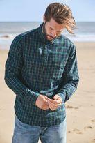 Next Mens Green/Yellow Long Sleeve Check Shirt
