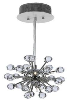 Harrison Lane Modern 6-Light Chrome Pendant with Crystal Balls