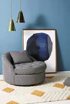 Anthropologie Wool Diamond Barwick Swivel Chair