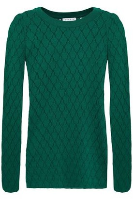 Sandro Anabelle Pointelle-knit Top