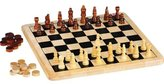 Baby Toys Chad Valley Wooden Chess and Draughts Board Game. by BABY-TOYS