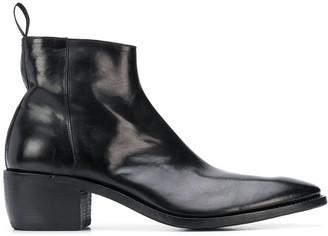 Premiata Block-Heel Ankle Boots