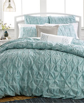 Bar III Diamond Pleat Mineral Blue Twin Comforter